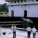 On the quayside in the Moraflores Locks
